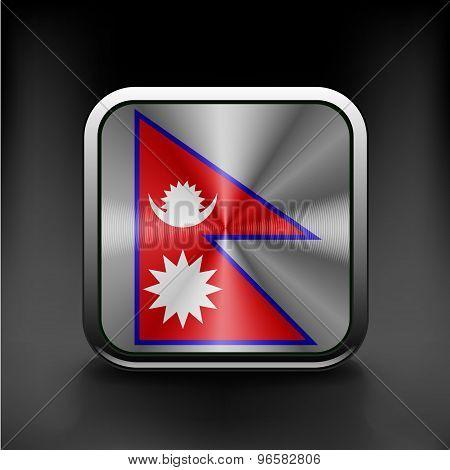 Flag Nepal vector illustration state symbol icon