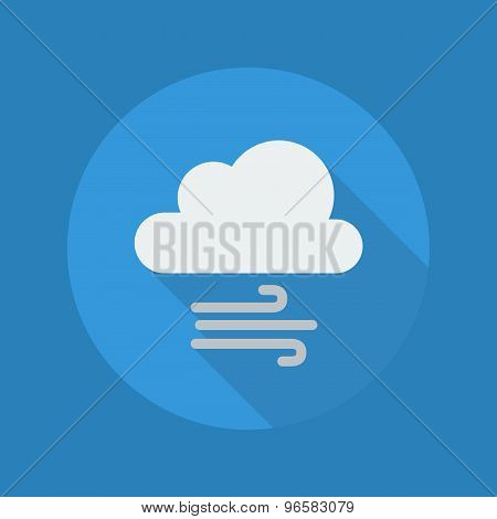 Weather Flat Icon. Cloud And Windy