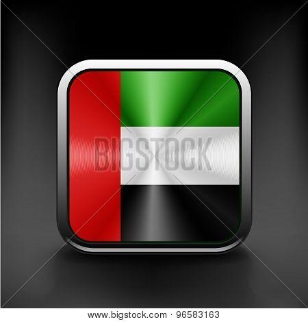 United Arab Emirates flag icon. Vector illustration.