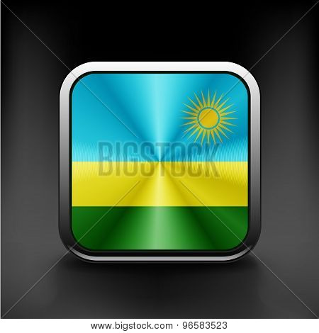 Rwanda flag national travel icon country symbol button