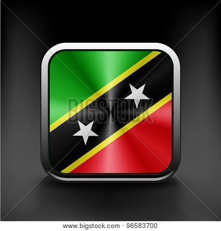 original and simple Saint Kitts and Nevis flag
