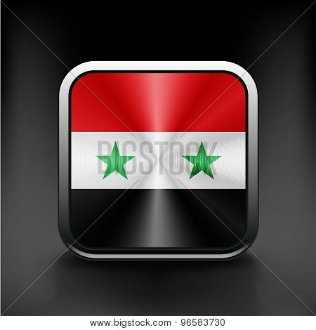 Vector - Syria flag national travel icon country symbol button