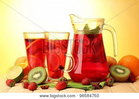 Red juice.