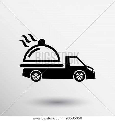 Logo Design for meal delivery service. Vector