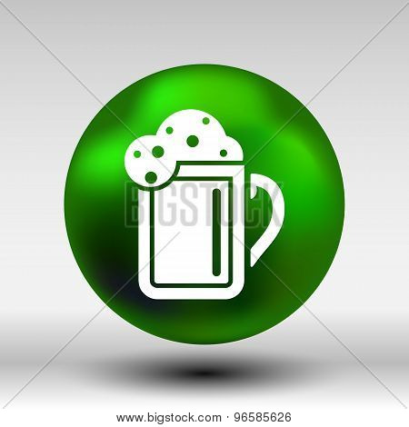 beer glass corporate identity logo isolated cold