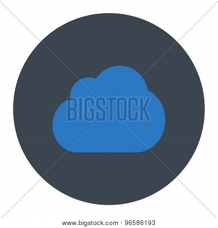 Cloud flat smooth blue colors round button