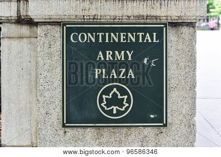 Continental Army Plaza, New York