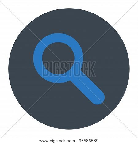 Search flat smooth blue colors round button