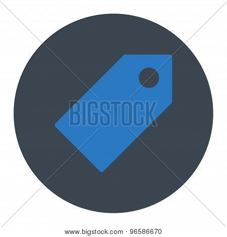 Tag flat smooth blue colors round button