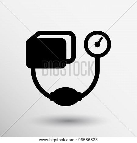 Tonometer flat Icon. Blood Pressure Checker medical