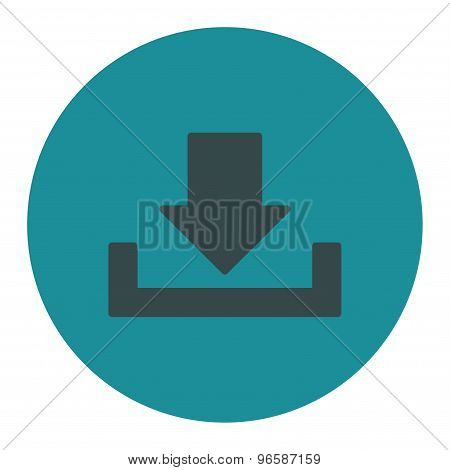 Download flat soft blue colors round button