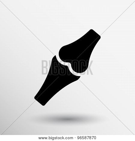 Knee joint sign vector icon bone knee health human medical