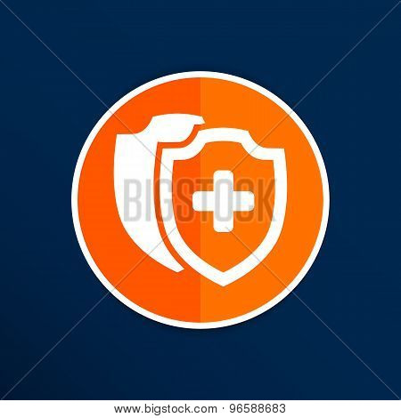 Vector Medical Shield Icon shield flat health cross medical