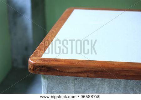 Wood Curve Corner Of Table Furniture