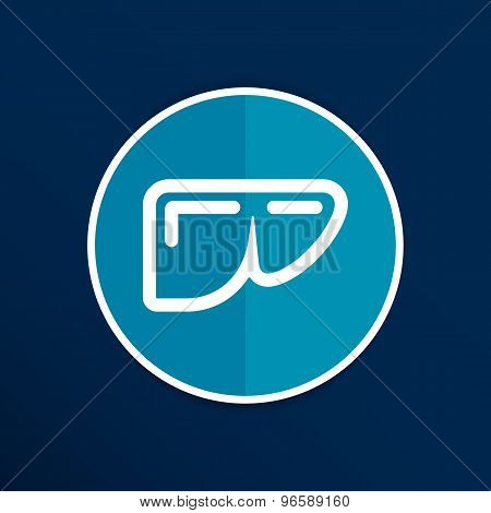 vector illustration of modern b lack icon liver