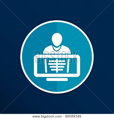 X-Ray human rib cage symbol for download icon