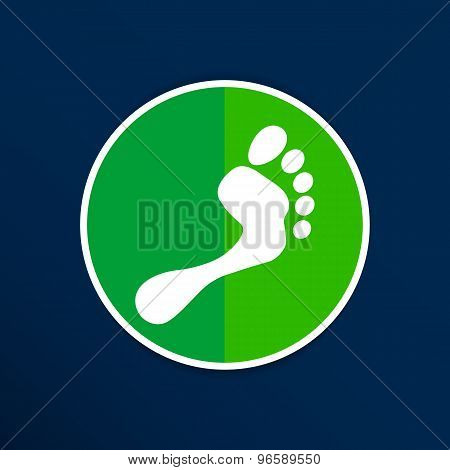foot vector icon human footprint logo symbol