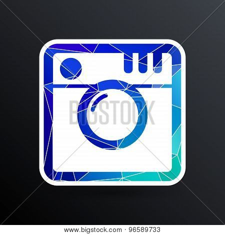 Hipster photo Camera icon Photo camera pictogram