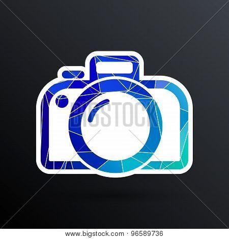 photo camera icon vector symbol photography vibrant