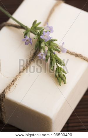 Lavender Soap With Lavender Flowers