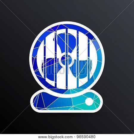 fan icon wind isolated cooling cold electric