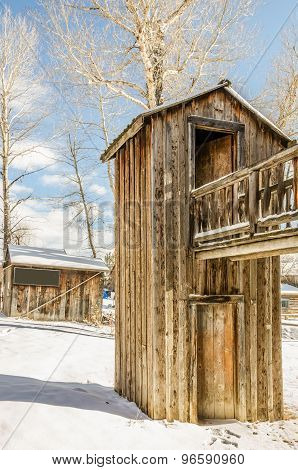 Two-story Outhouse