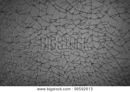 Abstract Crack Of Tempered Glass