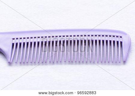 Purple hair comb
