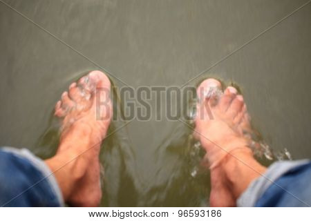 Foot and water