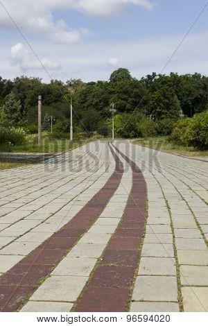 Park Road Of Bricks
