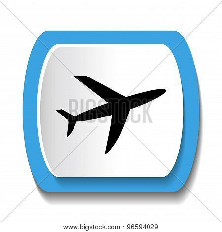 Icon with airplane