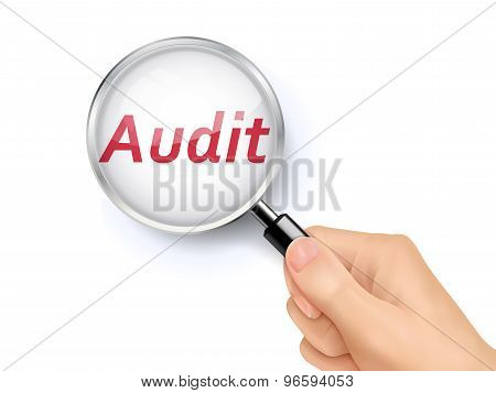 Audit Showing Through Magnifying Glass