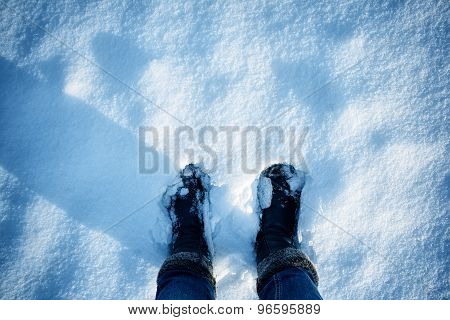 Feet on the snow