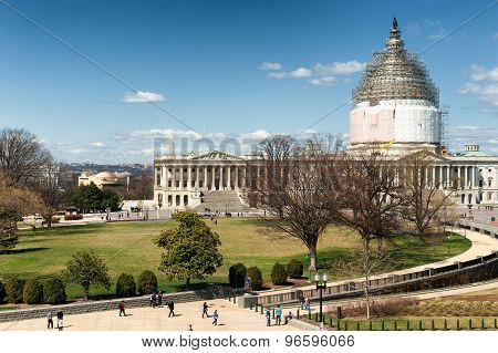 United States Capitol Building on reconstruction