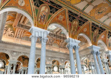 The Library of Congress in Washington DC Interior