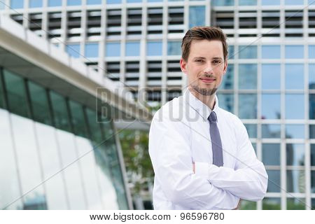 Caucasian businessman at outdoor