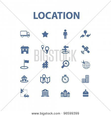 location, route, delivery, transportation isolated signs, icons vector set for web, application, design.