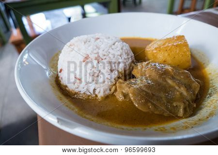 Brown Rice With Chicken Curry Soup