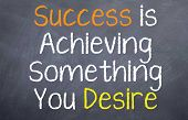 picture of desire  - Motivational Saying that you reach success when you complete something you desire - JPG