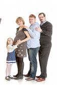 picture of she-male  - Happy family of four - JPG