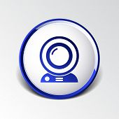 picture of video chat  - camera video icon web vector insight cam chat network - JPG