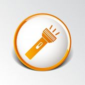 picture of torches  - flashlight icon torch vector pocket light shine isolated - JPG