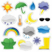 Glossy Weather Stickers