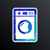 picture of laundromat  - washing machine icon laundromat vector clothing electric clear  - JPG