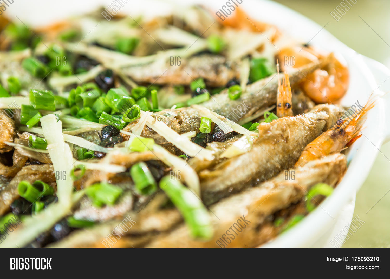 Fish fried in oil mixed with spices chinese food stock for 7 spices asian cuisine