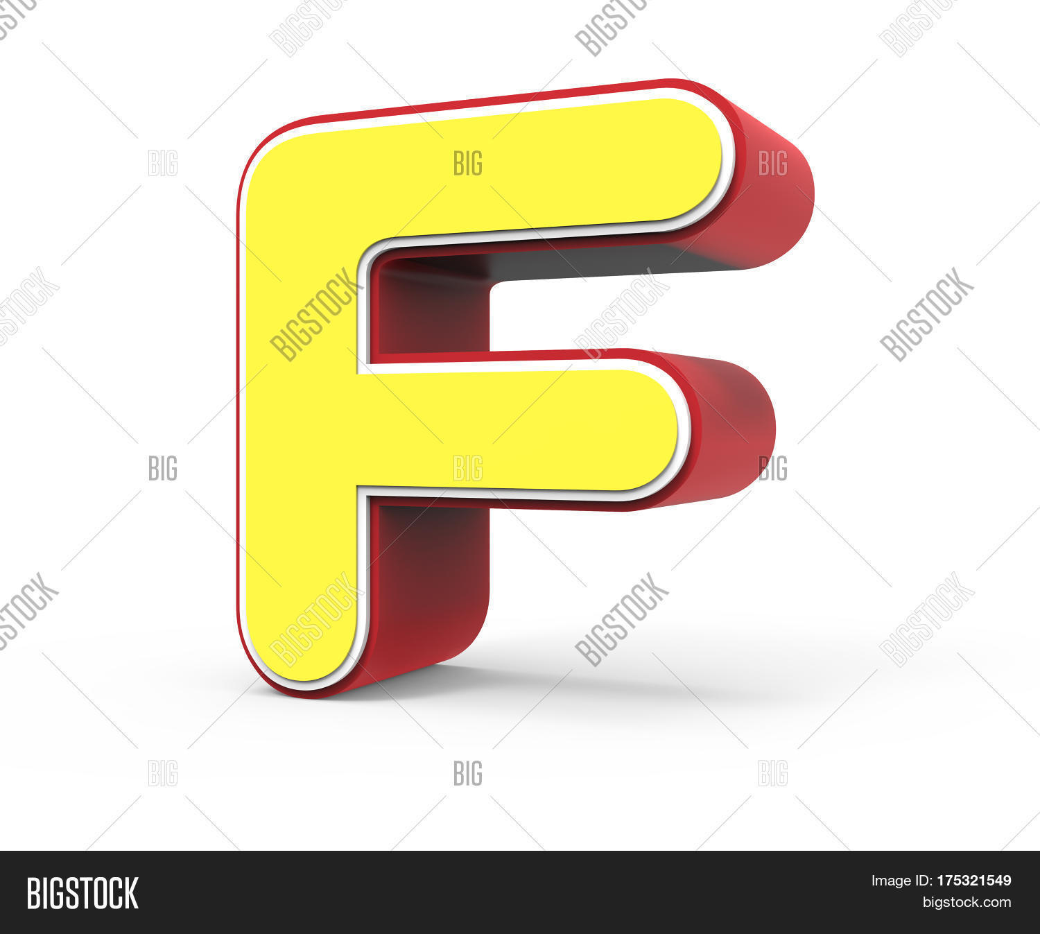 Yellow Letter F Image & Photo | Bigstock