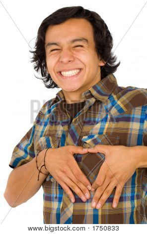 Man Doing A Heart Shape
