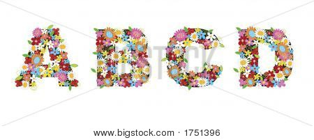 Spring Flowers Abcd