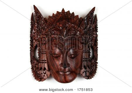 A Balinese Wooden Craft Of Sita