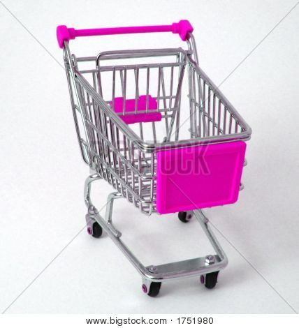 Pink Shopping Trolley